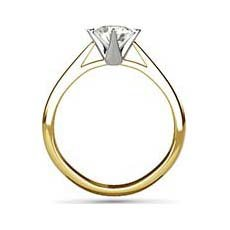 Lily yellow gold engagement ring