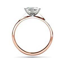 Eve rose and white gold engagement ring