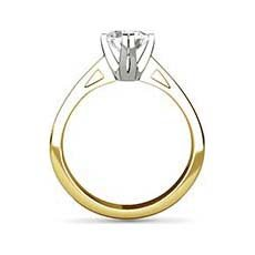 Grace yellow gold diamond ring