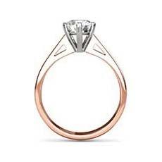 Naomi rose gold engagement ring