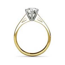 Naomi yellow gold diamond ring