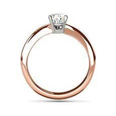 Cora rose gold engagement ring
