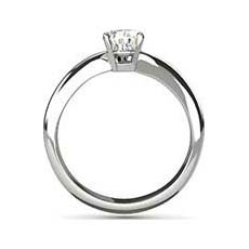 Cora platinum solitaire ring