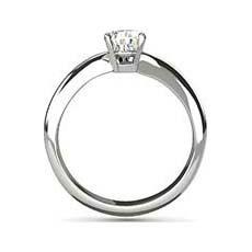 Cora platinum diamond engagement ring