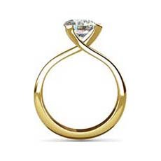 Cecilia yellow gold diamond ring