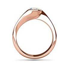 Clio rose gold diamond ring