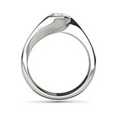 Clio white gold solitaire engagement ring