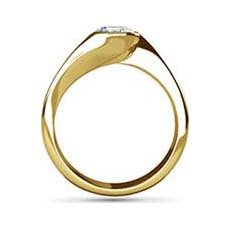 Clio yellow gold engagement ring