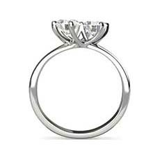 Alison twist engagement ring