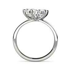 Alison diamond twist ring