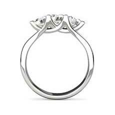 Samara 3 stone diamond ring
