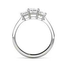 Zara platinum princess cut engagement ring