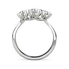Claire three stone diamond ring
