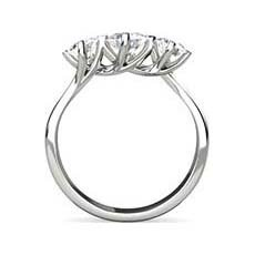 Claire three stone engagement ring