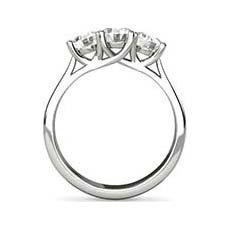 Meredith 3 stone diamond ring