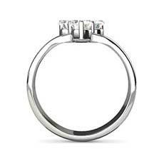 Denise three stone engagement ring