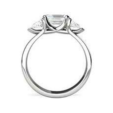 Electra emerald cut platinum engagement ring