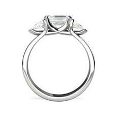 Electra emerald cut diamond ring