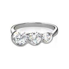 Ondine 3 stone engagement ring