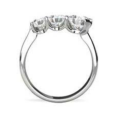 Ondine rubover engagement ring