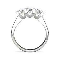 Ariana 3 stone engagement ring
