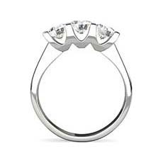 Ariana 3 stone engagement ring