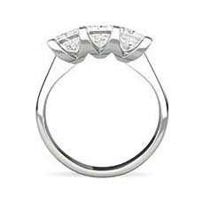 Imogen princess cut platinum engagement ring