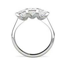 Imogen princess cut platinum engagement ring