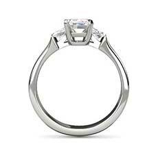 Orion diamond baguette ring