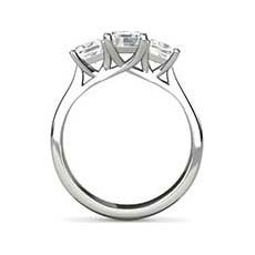 Bronwyn three stone engagement ring