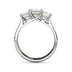 Virginia three stone engagement ring
