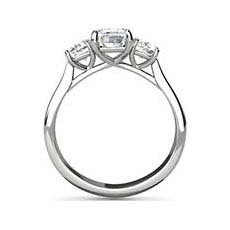 Delia emerald diamond ring