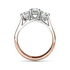 Vivian rose gold oval engagement ring