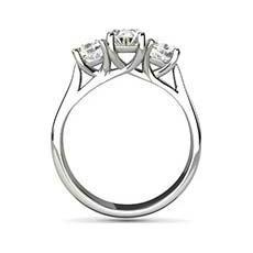 Vivian 3 stone diamond ring