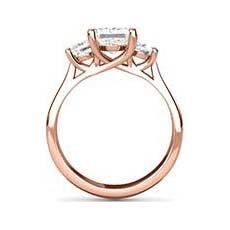Calista rose gold princess cut ring