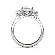 Calista three stone diamond ring