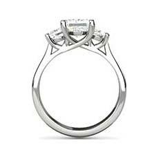 Calista princess cut engagement ring