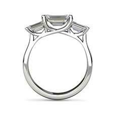 Ursula emerald cut diamond ring