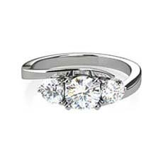 Hannah three stone diamond ring