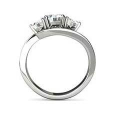Hannah three stone diamond ring