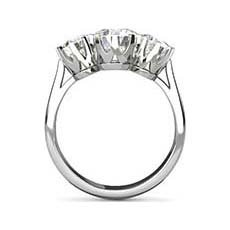 Athena three stone engagement ring