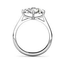 Jackie vintage white gold engagement ring