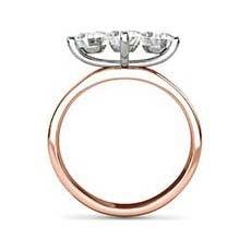Angelina vintage rose gold engagement ring