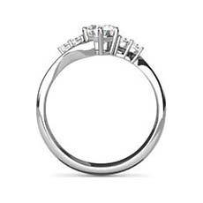 Genevieve crossover diamond ring
