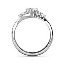 Genevieve crossover engagement ring