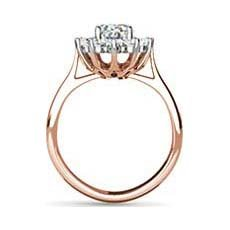 Princess Catherine rose gold oval engagement ring