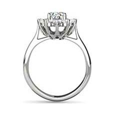 Princess Catherine oval engagement ring