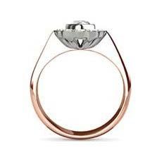 Paris vintage rose gold engagement ring