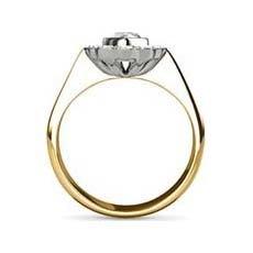 Paris yellow gold halo engagement ring