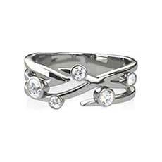 Matilda 5 stone diamond ring